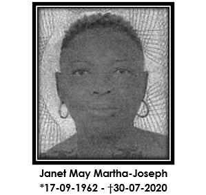 Morto: Janet May Martha-Joseph