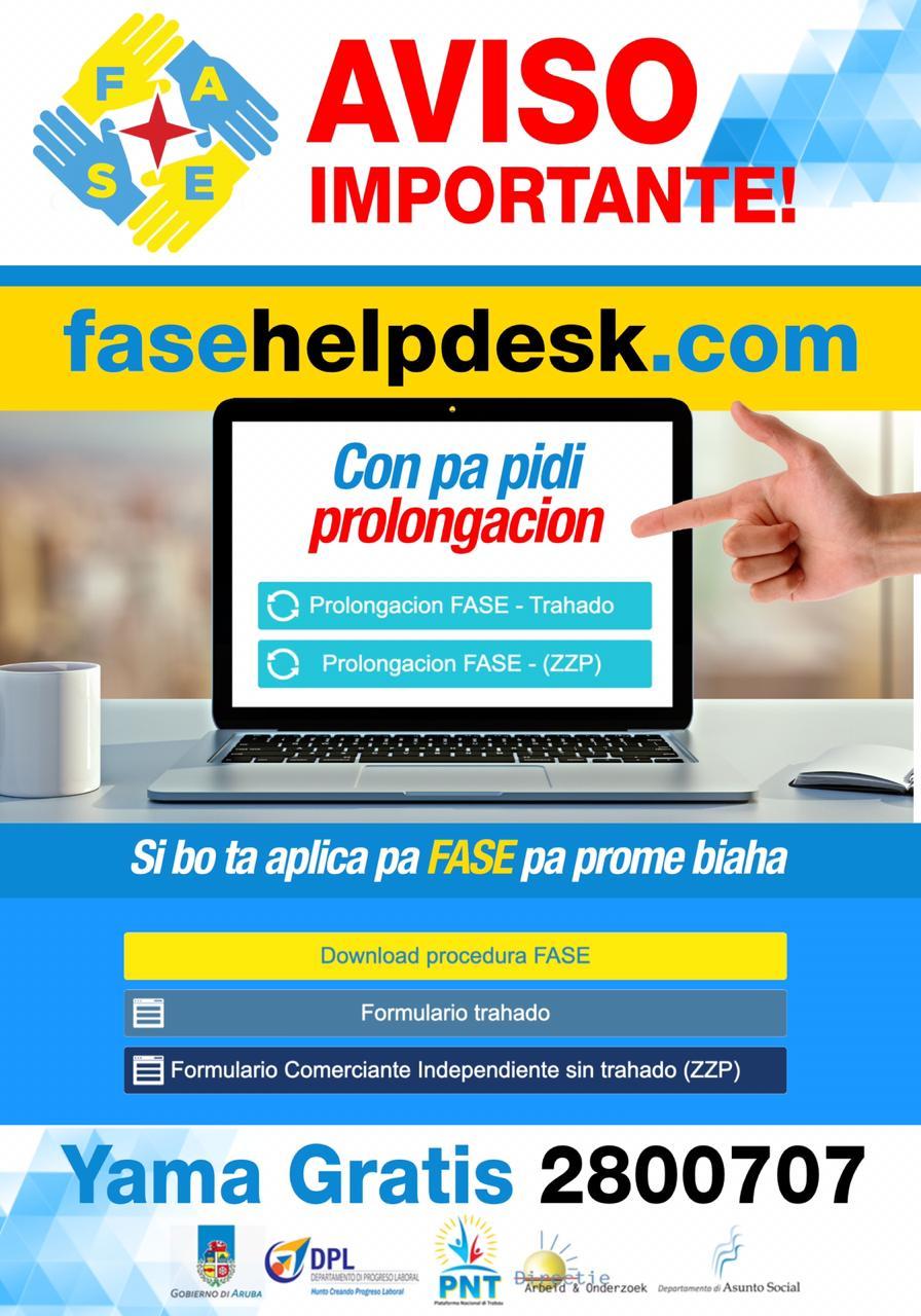 FASE Helpdesk ta informa: E diferencia entre prolonga y registra pa FASE